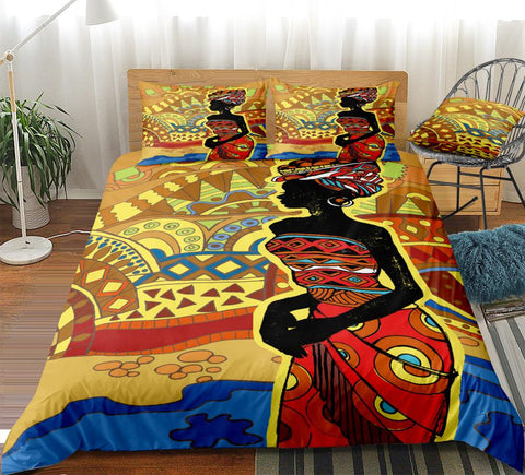 Image of African Woman Bedding Set - Beddingify