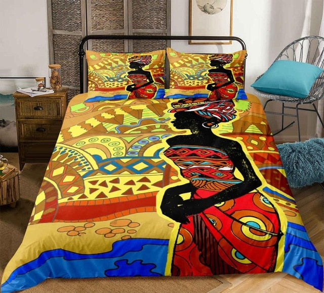 African Woman Bedding Set - Beddingify