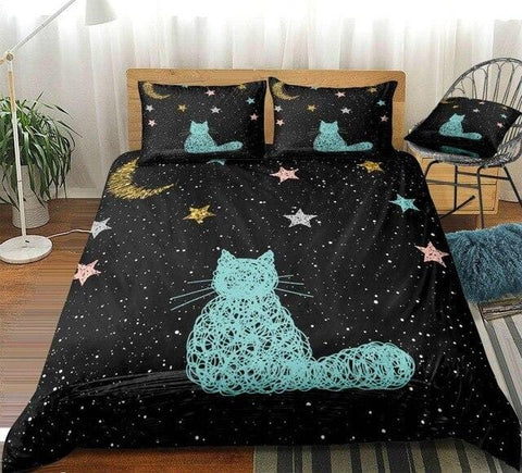 Image of Galaxy Cat Bedding Set - Beddingify
