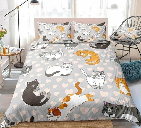 Lovely Cat Bedding Set - Beddingify