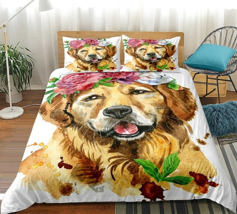 Image of Golden Retriever Dog Bedding Set - Beddingify