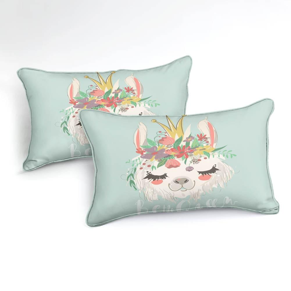 Llama With Flower Bedding Set - Beddingify