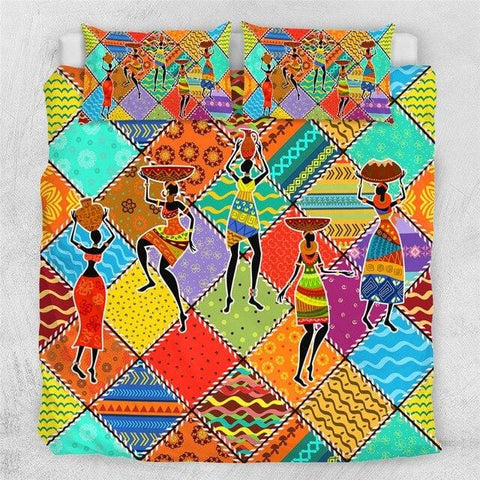 Image of Dancing African Woman Bedding Set