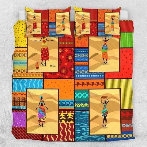 Image of Dancing African Woman Bedding Set - Beddingify