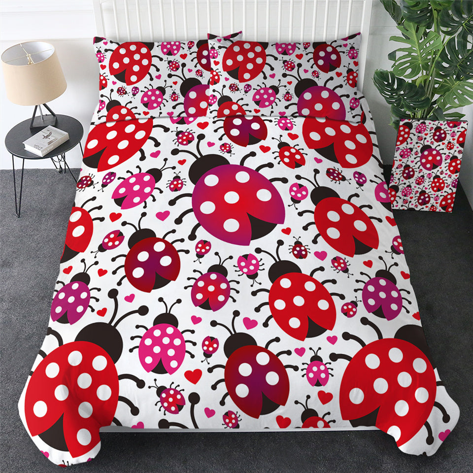 Red Ladybug Bedding Set - Beddingify