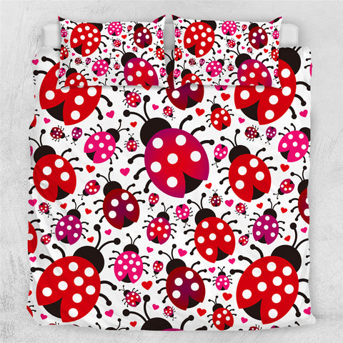 Image of Red Ladybug Bedding Set - Beddingify