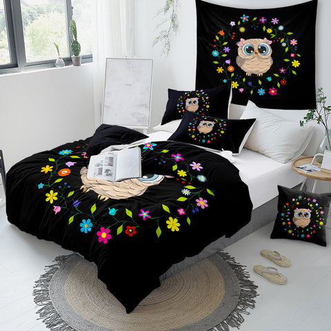 Image of Cute Owl Bedding Set for Kids - Beddingify