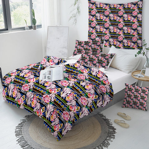 Bull Skull Bedding Set - Beddingify