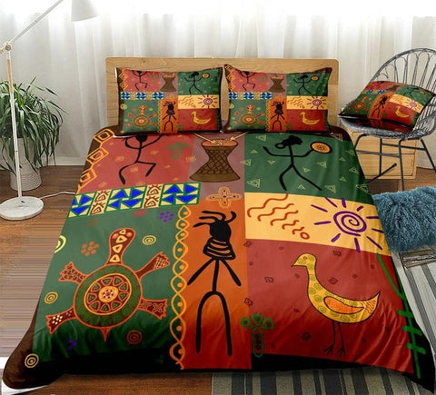 Image of African Style Dance Bedding Set - Beddingify