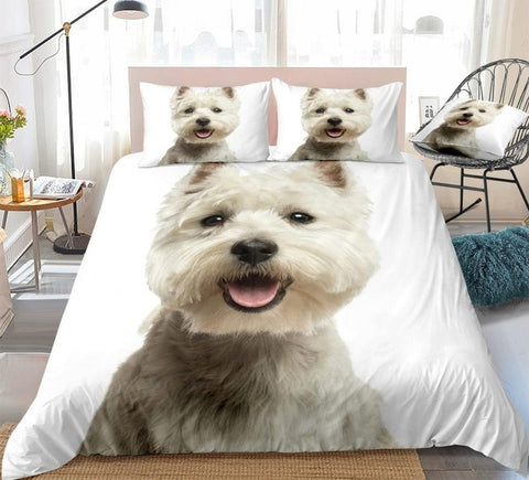 Image of White Terrier Bedding Set - Beddingify