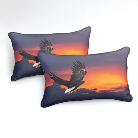 Flying Black Eagle Bedding Set - Beddingify