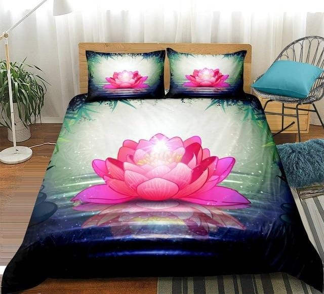 Buddha Lotus Flower Bedding Set - Beddingify