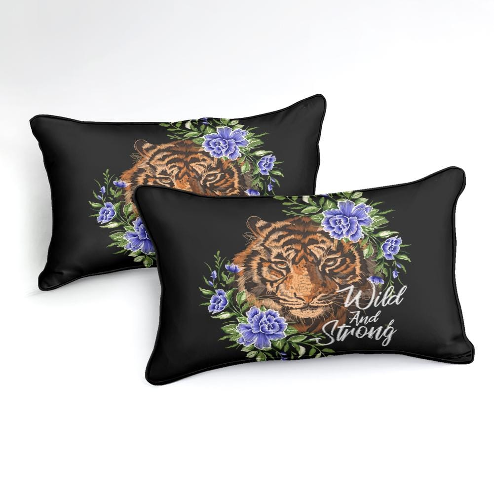 Floral Tiger Bedding Set - Beddingify