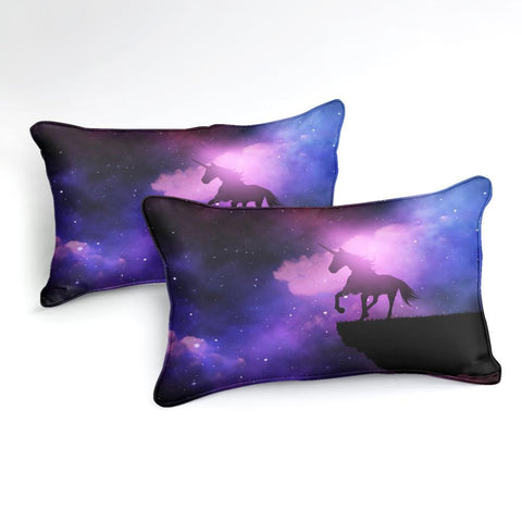 Image of Purple Galaxy Unicorn Bedding Set - Beddingify