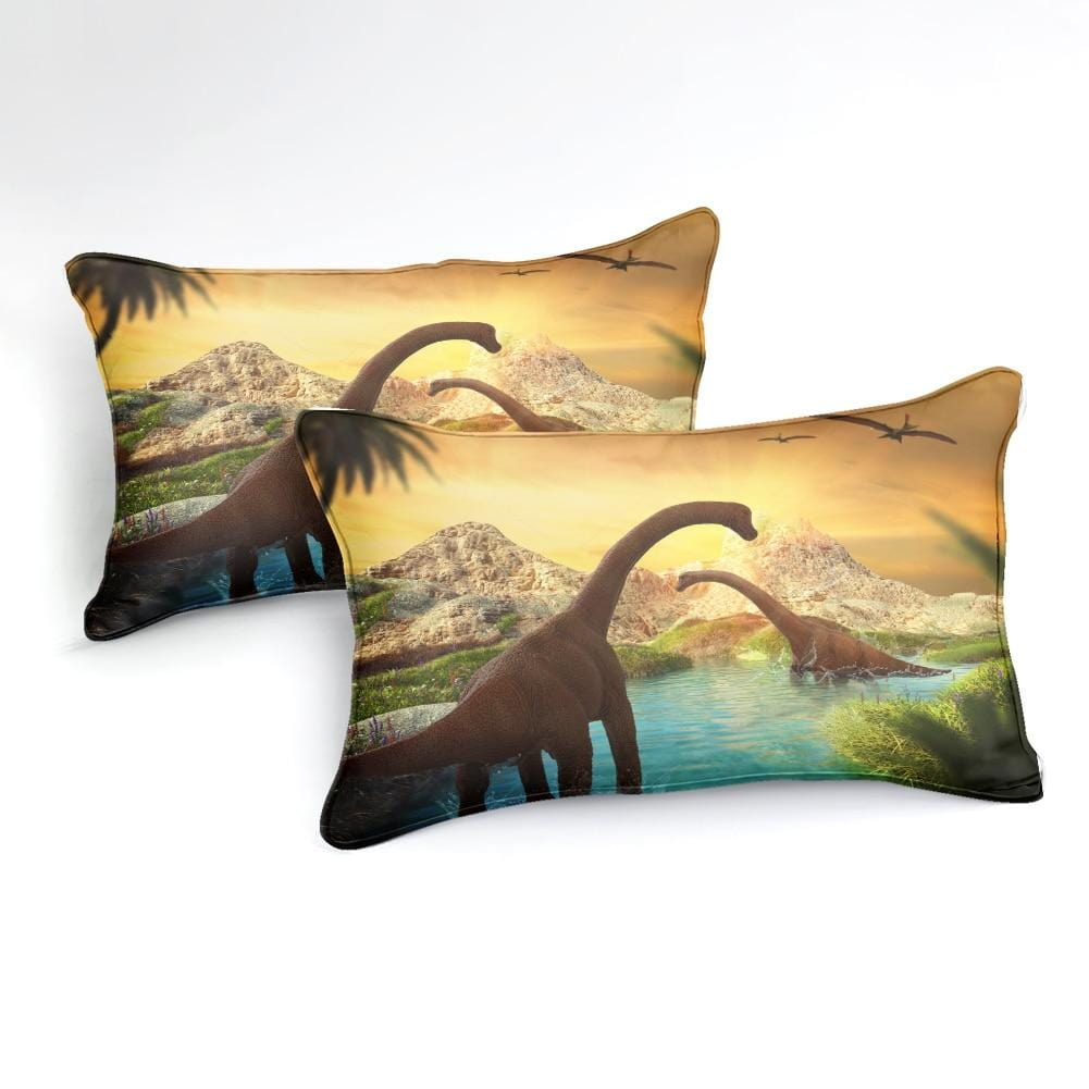 Tanystropheus Sunset Bedding Set - Beddingify