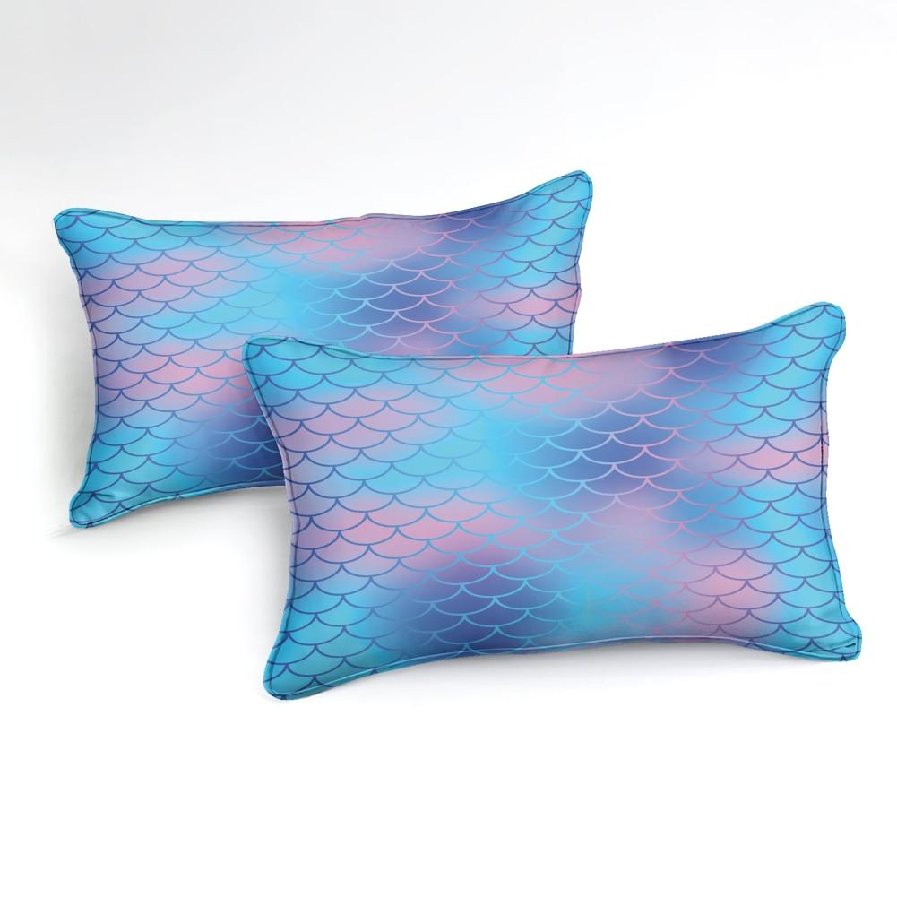 Blue Purple Mermaid Scale Bedding Set - Beddingify
