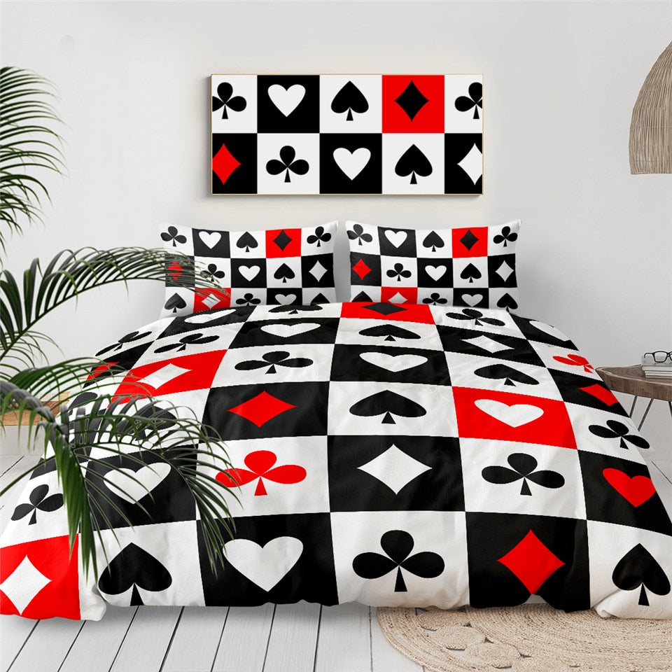 Poker Series Modern Bedding Set - Beddingify
