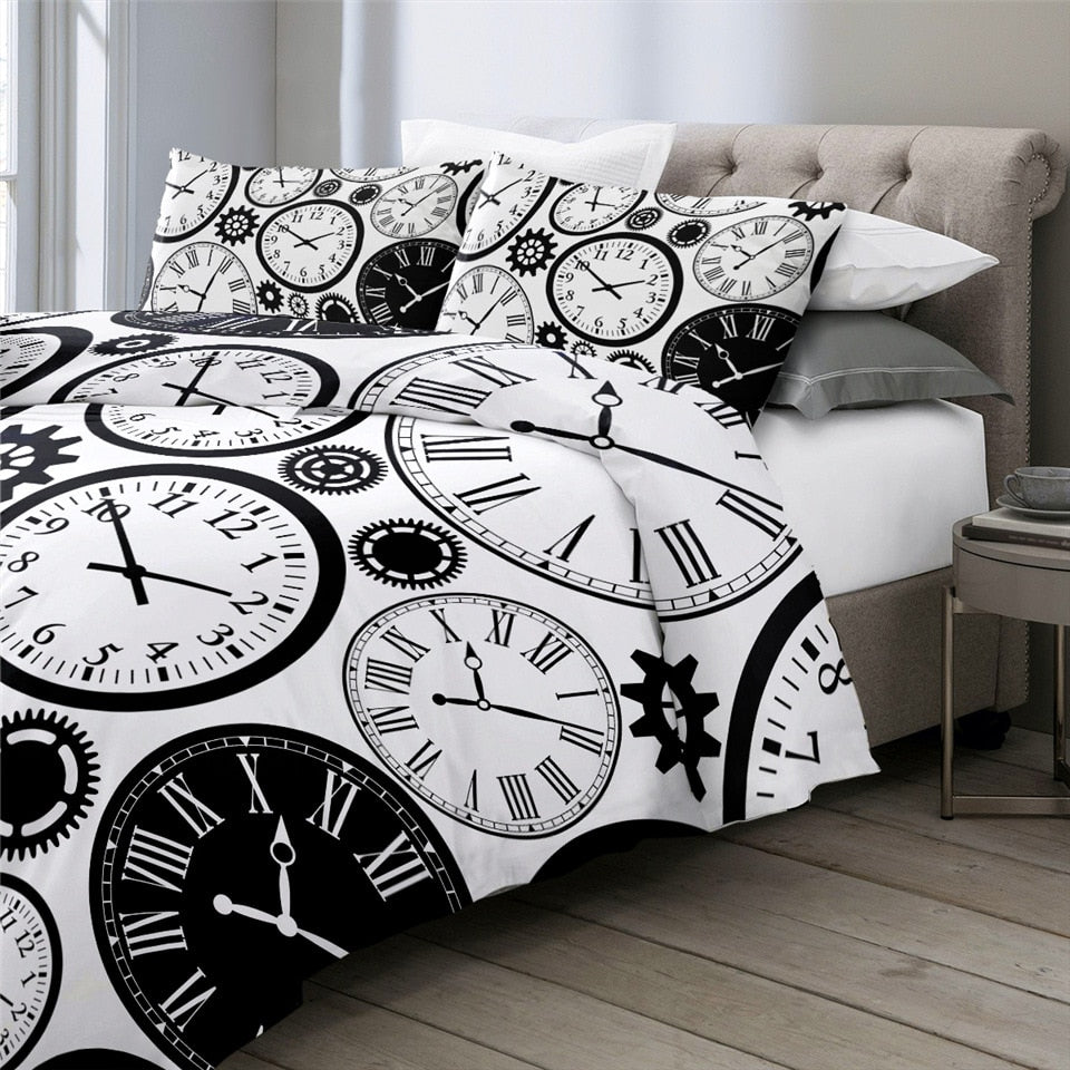Clocks Time Bedding Set - Beddingify