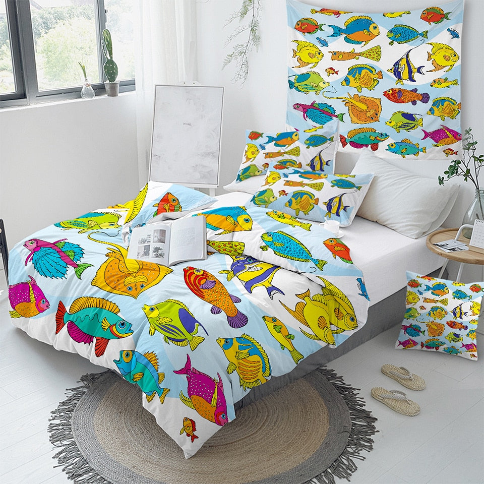 Colorful Fish Bedding Set - Beddingify