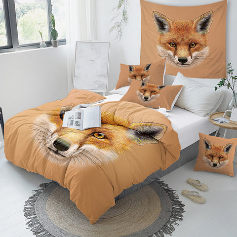 Image of Fox Face Bedding Set - Beddingify