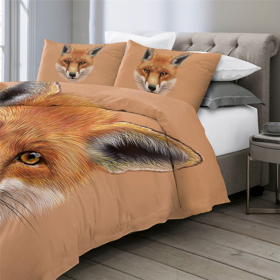 Fox Face Bedding Set - Beddingify