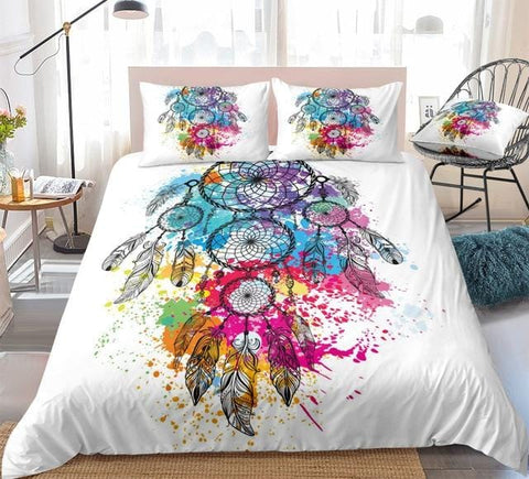 Image of Colorful Dreamcatcher Bohemian Bedding Set - Beddingify