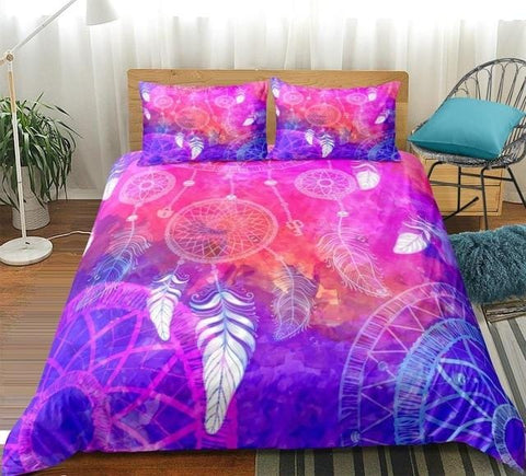 Image of Colorful Dreamcatcher Tie Dye Bedding Set - Beddingify