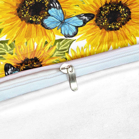 Image of Butterflies Sunflower Bedding Set - Beddingify
