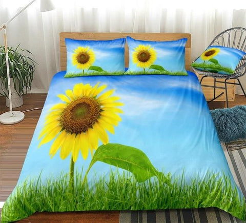 Image of Sky Sunflower Bedding Set - Beddingify