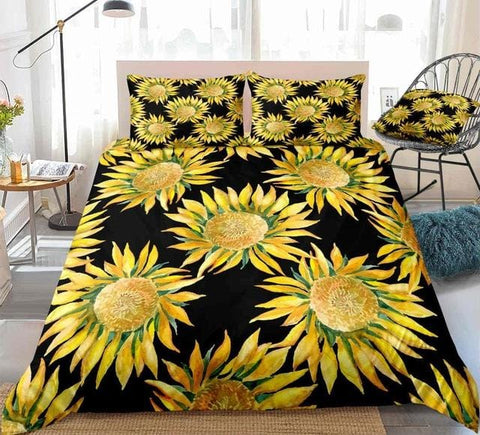 Image of Sunflowers Blooming Bedding Set - Beddingify