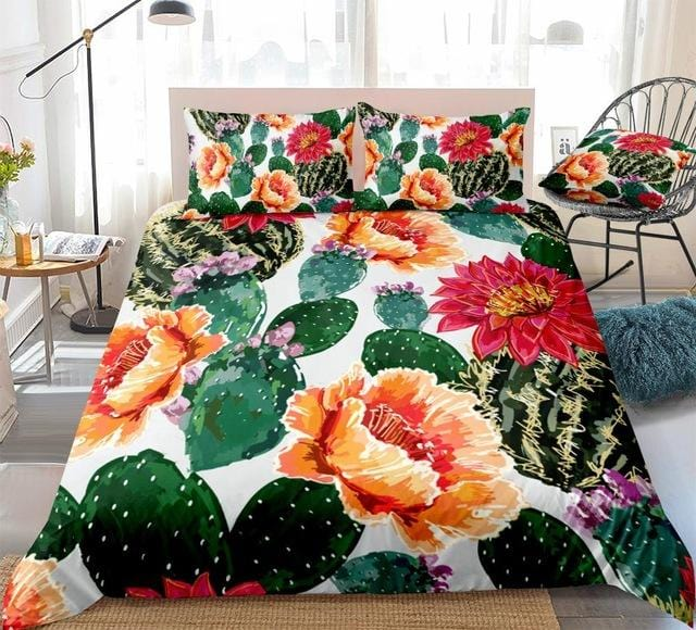 Cactuses Flowers Bedding Set - Beddingify