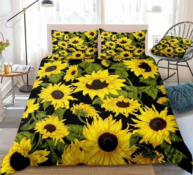 Retro Sunflower Bedding Set - Beddingify
