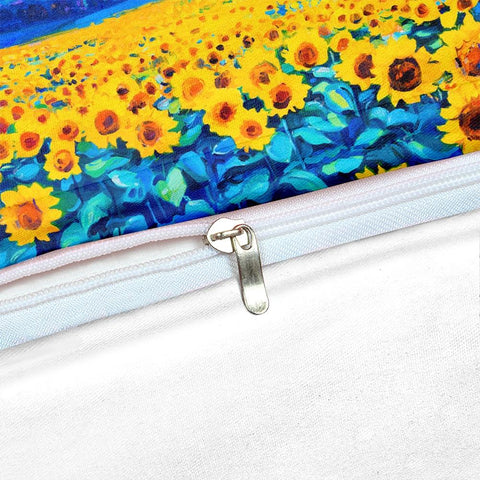 Image of Watercolor Sunflower Bedding Set - Beddingify
