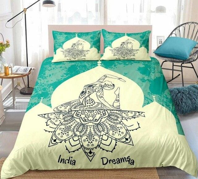 Mandala Ballet Dancer Bedding Set - Beddingify