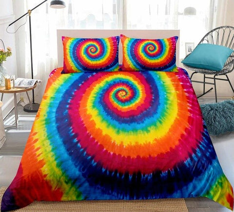 Image of Tie-dyed Circle Bedding Set - Beddingify