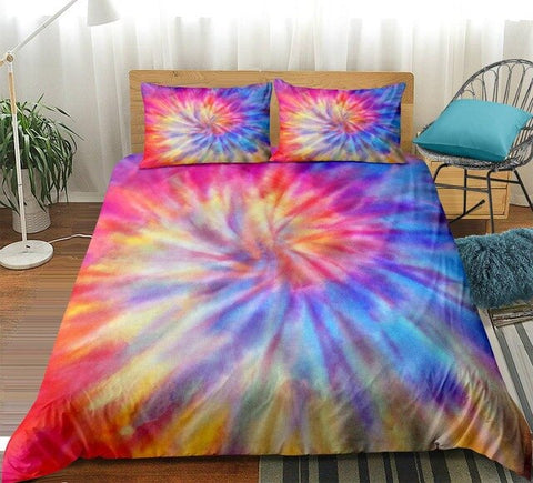 Image of Splashing Watercolor Dreamy Tie-dyed Bedding Set - Beddingify
