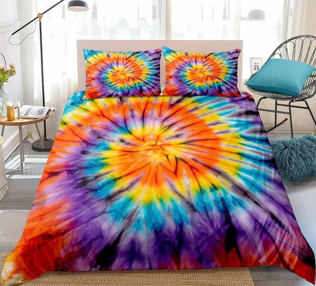 Tie-dyed Colorful Paintings Bedding Set - Beddingify