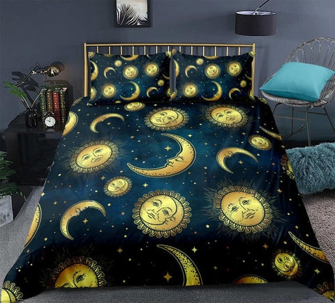 Image of Celestial Moon and Sun Bedding Set - Beddingify