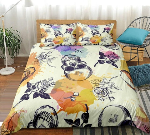 Image of Gothic Rose Skul Bedding Set - Beddingify