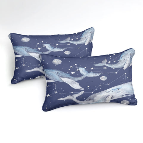 Image of Ocean Blue Whale Bedding Set - Beddingify