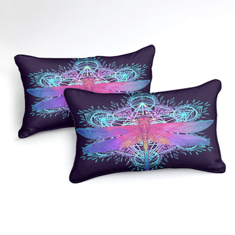Image of Colorful Dragonfly Pattern Bedding Set - Beddingify