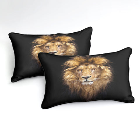 Image of Wild Lion Pattern Bedding Set - Beddingify