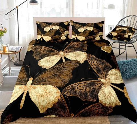 Image of Pretty Flying Butterfly Bedding Set - Beddingify