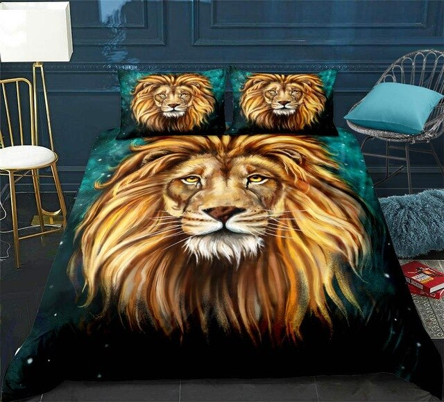 Gold Lion Head Bedding Set - Beddingify