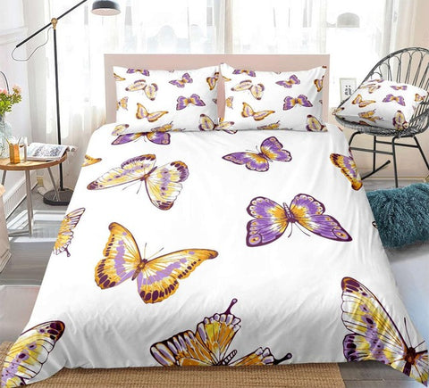 Image of Purple Butterfly Bedding Set - Beddingify