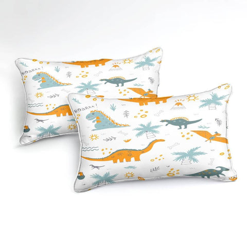 Image of Cartoon Dinosaur Bedding Set - Beddingify