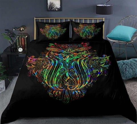 Image of Colorful Owl Bedding Set - Beddingify