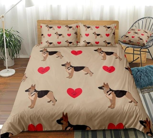 Love Shepherd Dog Bedding Set - Beddingify