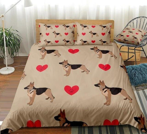 Image of Love Shepherd Dog Bedding Set - Beddingify