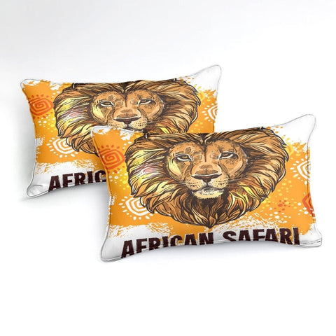 Image of Lion Pattern Bedding Set - Beddingify